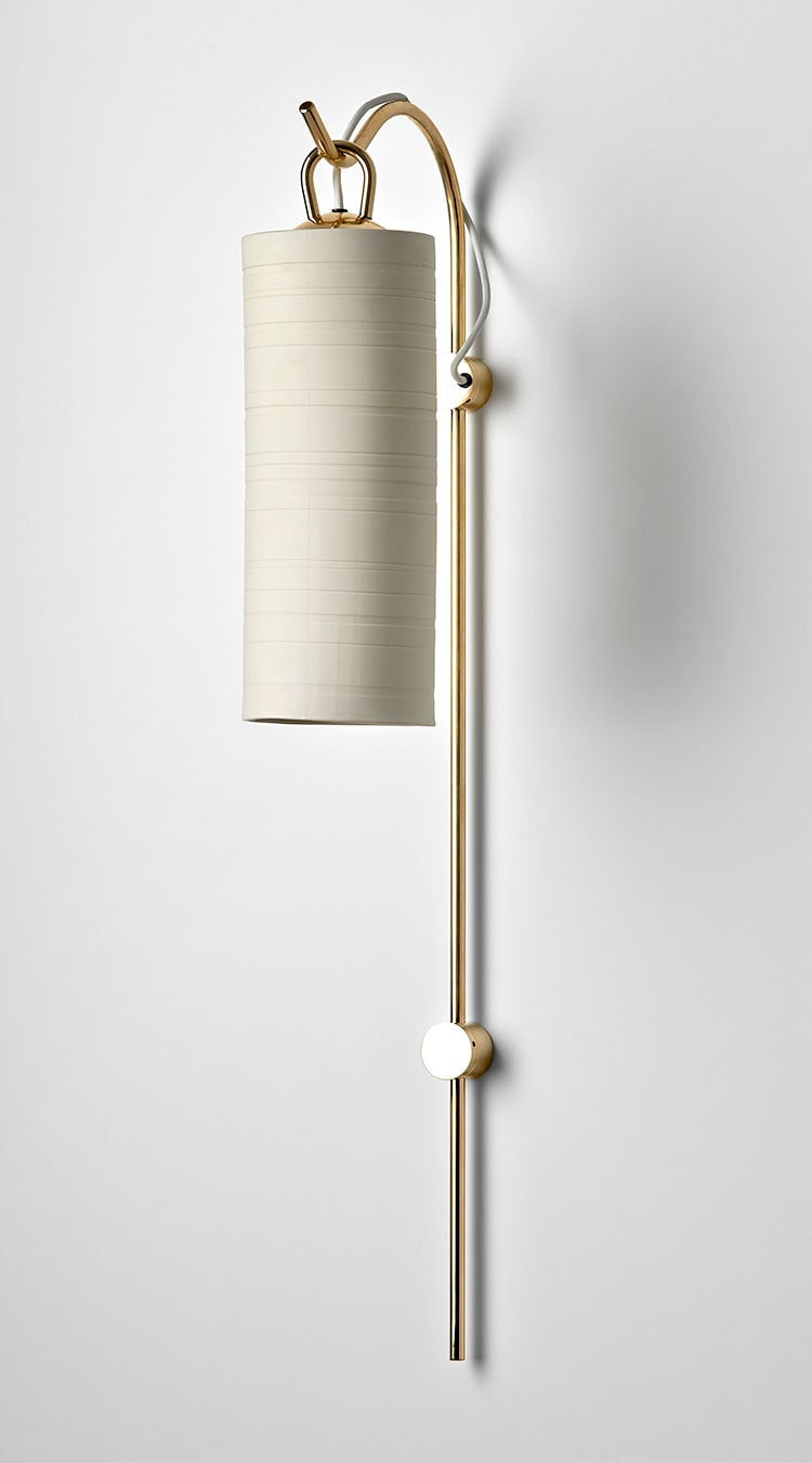 Staff Wall Sconce White